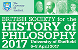 Logo for the British Society for the History of Philosophy Conference