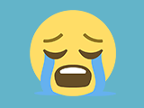 Image of a crying emoji