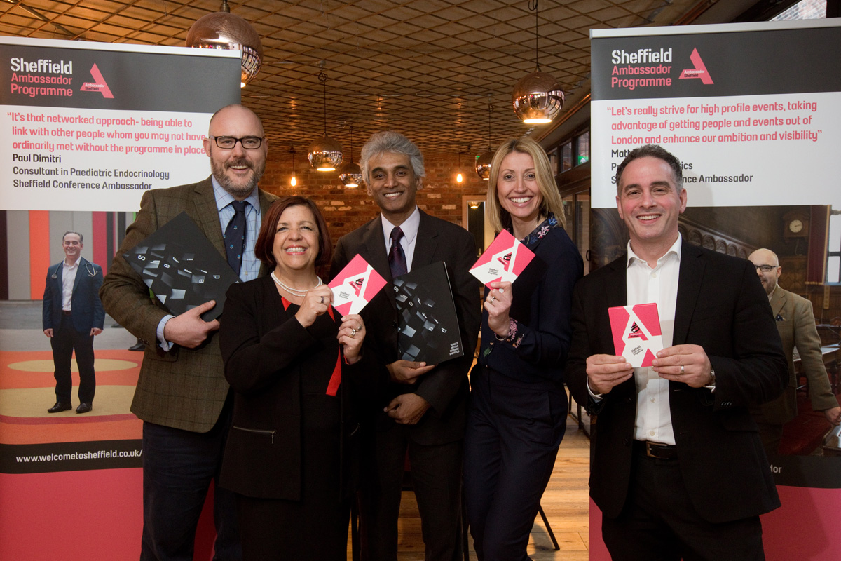 Sheffield Ambassador programmes posing together smiling
