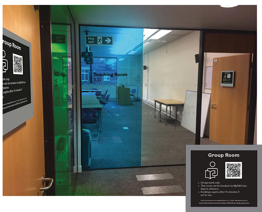 Information Commons Window Film