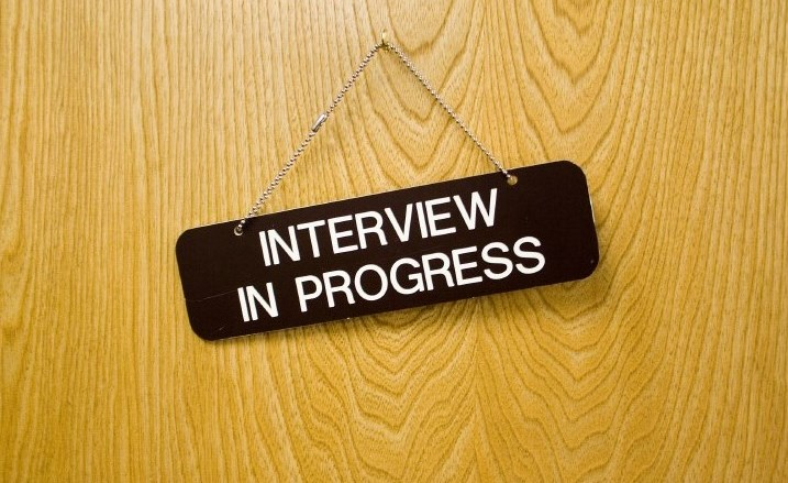 'Interview in progress'