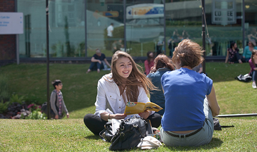 Students enjoying an open day at Sheffield