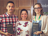 Members of the ACS Green Impact teams with their awards.