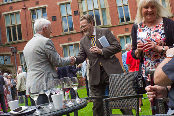 The President and Vice-Chancellor was also on hand to welcome back alumni to the University