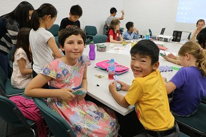 Children at summer school workshop