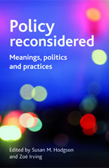 "Cover of book, ""Policy Reconsidered"""