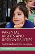 "Book cover ""Parental rights and responsibilities: Analysing policy and service user perspectives"""