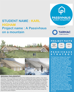 Karl Higham - Passivhaus on a Mountain