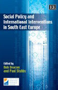"Cover of book, ""International Actions and Social Policy in South East Europe"""