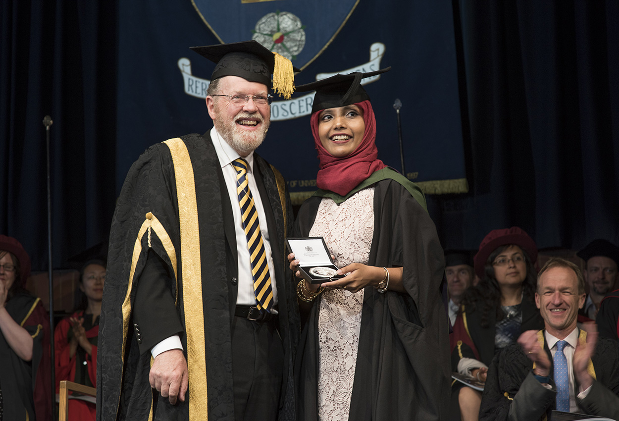 VC Keith Burnett with Saheela Mohammed