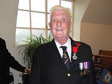 Frank Brown wearing his Legion d'Honneur medal.