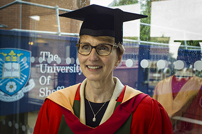Dr Helen Sharman receiving honorary degree