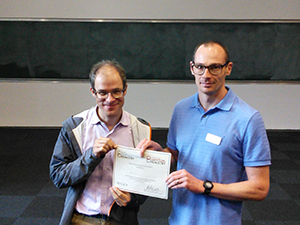 Bengt Tegner poster prize winner at the Midlands Compuational Chemistry Meeting