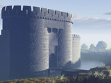 An artist's impression of the gatehouse to Sheffield Castle