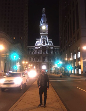 Martin Heneghan pictured at the City Hall, Philadelphia