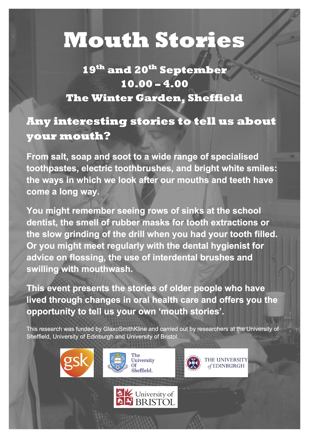 mouth stories event in the winter garden 19 20th sept 2017 our