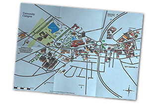 Folded Campus Map