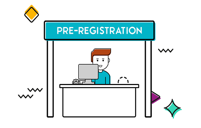 "A still from the ""pre-registration"" guidance videos"