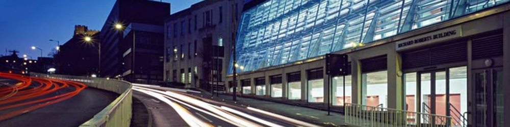 Richard Roberts Building at night