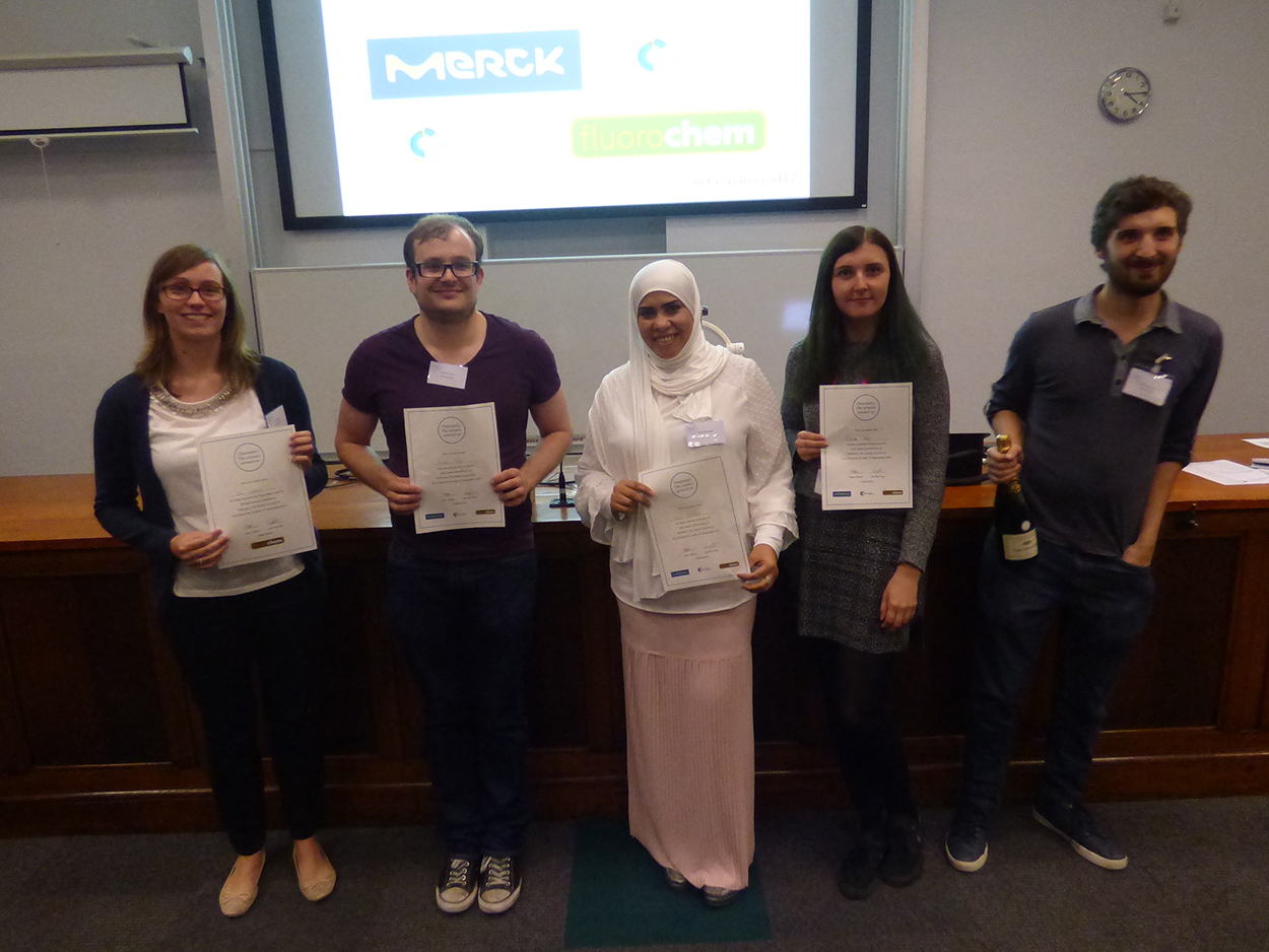 Zoe Smallwood (far left) with the other prize winners from the Chemistry: The Science Around Us symposium