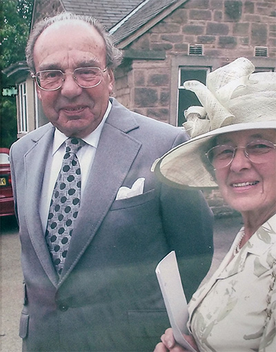 John Houghton with wife Betty