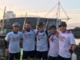 Alumni cycle through Wales in memory of University classmate