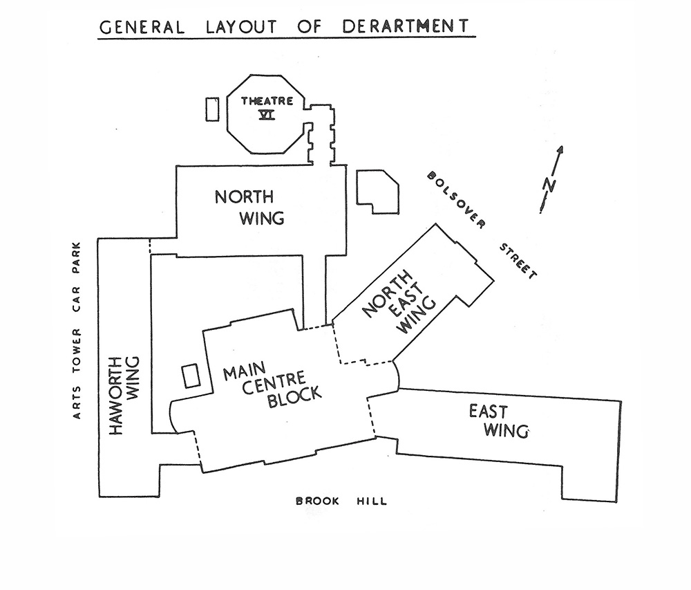 Floor plan of the department.
