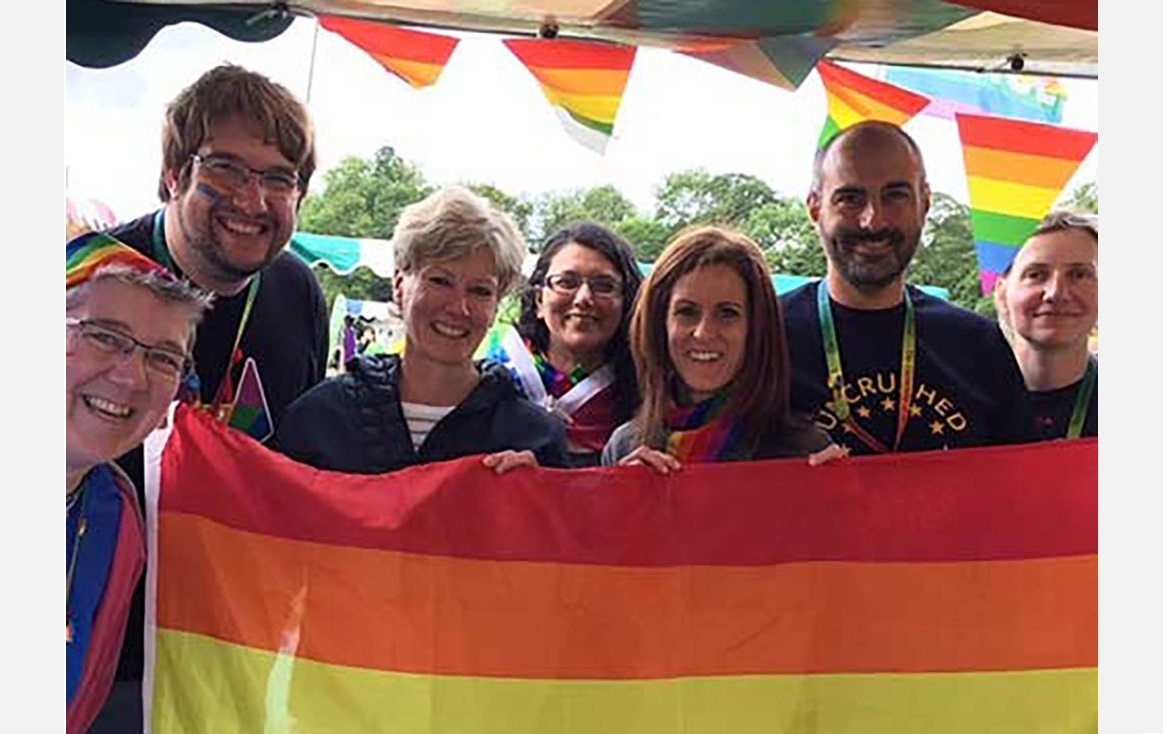 Professor Valentine and colleagues at Sheffield Pride
