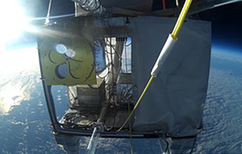 The telescope, dubbed Sheffield University Nova Balloon Lifted Solar Telescope (SunbYte)