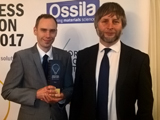 The Ossila team being presented with the award
