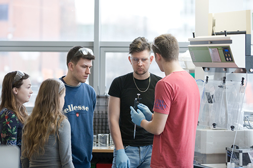 Students in one of our teaching labs