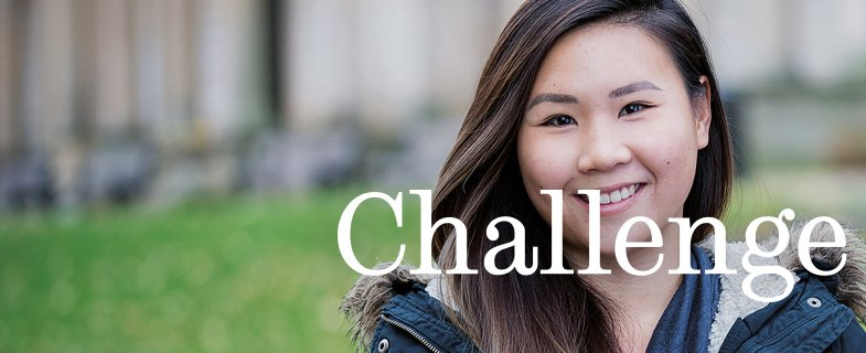 Sheffield student, text: Challenge