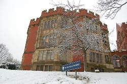Firth court in the snow