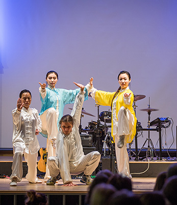 Performers from the Confucius Institute