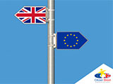 Illustration of EU and British flag