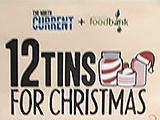 12 Tins for Christmas appeal poster