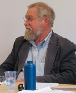 Photo of Bob Hale at a conference in his honour