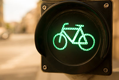 traffic light with bicycle symbol