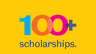 branding for the University's 100 scholarships initiative