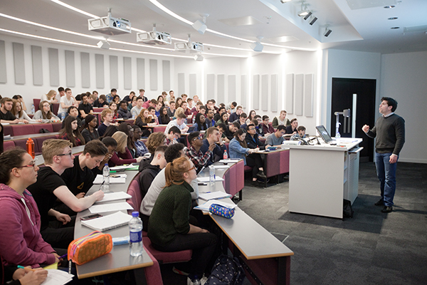 Photo of an undergraduate lecture