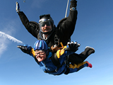 Sue Rawdings skydiving for SITraN