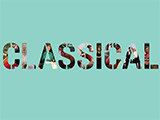 The word 'CLASSICAL' printed on a green background.