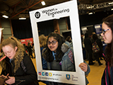 School pupils at STEM for girls event