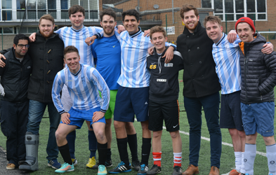 Picture of a team in the Alumni Football Tournament.