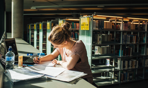 Photograph of student in IC