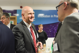 Image of Visiting Professor Mike Maddock at an event