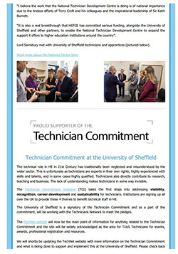 Image of one page of the March 2018 TechNet Newsletter