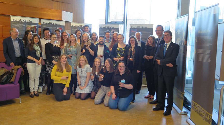 Students and staff from the University of Sheffield with the two ambassadors