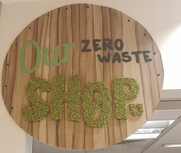 The Our Zero Waste Shop Sign