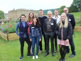 Students and staff at RHS Chatsworth Flower Show